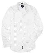 American Eagle Men's Seriously Soft Button Down Print Shirt (Large, 9958-100)
