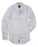 American Eagle Men's Seriously Soft Button Down Print Shirt (Small, 9959-020)