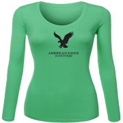 American Eagle Outfitters Logo for Women Printed Long Sleeve Cotton T-shirt