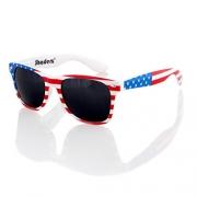 Classic American Patriot Flag Wayfarer Style Sunglasses USA (Blue mirror lens) – Men's Sunglasses Best Price