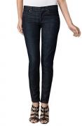 "ANLO Womens ""Brooke"" Skinny Slim Zip Hem Jeans Sz 27 Indigo Rinse 160758TAG."
