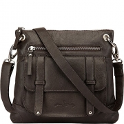 Ann Shelby Felice Leather Crossbody Bag (Dark Brown).