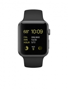 Apple Watch Series 3 – GPS – Space Gray Aluminum Case with Black Sport Band – 42mm