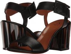 Aquatalia Women's Eloise Thum Calf Combo Flat Sandal, Black, 7 M US.
