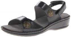 Aravon Women's Candace Dress Sandal,Black,7 B US.