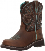 Ariat Women's Fatbaby Collection Western Cowboy Boot, Black Carbon, 7 B US.