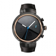 ASUS ZenWatch 3 WI503Q-GL-DB 1.39-inch AMOLED Smart Watch with dark brown leather strap (Brown-Rubber Band)