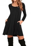 AUSELILY Women's Swing Dress With Pockets