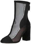 Avec Les Filles Women's Rita Fashion Boot, Black Mesh/Suede, 9.5 M US.