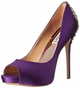 Badgley Mischka Women's Kiara Platform Pump, Purple, 7.5 M US.