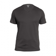 Banana Republic Premium-Wash V Neck Tee (Large, Charcoal).