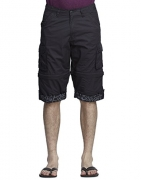 BEEVEE Mens DKOlive solid detachable cargo three-fourth length shorts, Dark Olive, 3X Big – beevee solid men's cargos