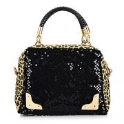 Best Seller! 2018 Casual Women's Handbag Leopard Print Paillette Bag Shoulder Bag Handbag Messenger Bag Women's Handbag.