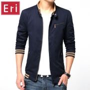 Fashion Male Jackets Solid Stand Collar Zipper High Quality