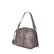 """Browning Janey Concealed Carry Small Handbag with Camouflage Lining – Gunmetal – Realtree MAX-1 Camo – 8"""" x 7"""" x 4.5""""."""