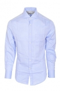Brunello Cucinelli Shirt Men's Light blue Cotton Slim Fit Business shirt Business S.