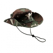 Bucket Hat Boonie Hunting Fishing Outdoor Men Cap Washed Cotton NEW W/ STRINGS, 40% polyester and 60% cotton Material, Boonie Style Hat (Green Camouflage) – Men's Hat Best Price