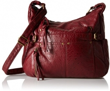 Bueno of California Faux Leather Ostrich Shoulder Bag.