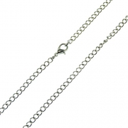 Burnished Bronze Replacement Necklace Chain 2.3 mm Diameter 18″ 24″ 32″ Soldered Link Matching Lobster Clasp (24)
