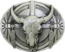 BULL SKULL and FEATHERS BELT BUCKLE Indian Native American western Eagle belt buckle – Men's Wallet Best Price