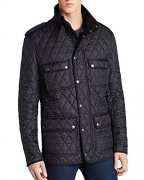Burberry Brit Russell Diamond Quilted Jacket (XL, Black)