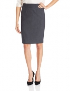 Calvin Klein Women's Straight Fit Suit Skirt, Charcoal, 4