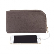 Chic Buds Skyler Charge-N-Go Power Clutch with 2200mAh Battery – Mocha.