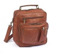 Claire Chase Jumbo Man Bag, Saddle, One Size.