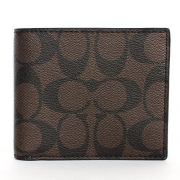 Coach 74993 Mens Signature Pvc Wallet Mahogany/brown