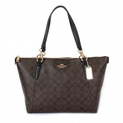 Coach Ava Tote in Signature Brown/Black/Gold F58318