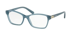 Coach HC 6091B 5399 Milky Blue Plastic Square Eyeglasses 51mm