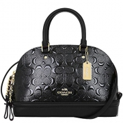 COACH Mini Sierra Satchel In Signature Debossed Patent Leather, F55450