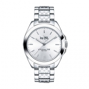Coach Women's 14502177 Tristen Signature Silver Tone Stainless Watch
