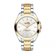 Coach Womens 14502180 Tristen Classic Signature Two Tone Watch