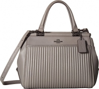 COACH Women's Drifter Satchel in Quilted Leather Dk/Heather Grey One Size