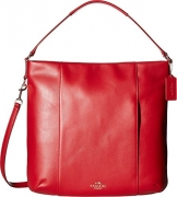 COACH Women's Leather Isabelle Shoulder Bag Classic Red Handbag