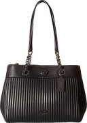 COACH Women's Turnlock Edie Carryall in Quilted Leather Dk/Black One Size