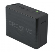 Creative MUVO 2c Palm-sized Mini Water-resistant Bluetooth Speaker with Built-in MP3 Player (Black)