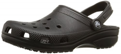 crocs Unisex Classic Clog, Black, 11 US Men / 13 US Women.