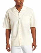 Cubavera Men's Long Sleeve Ramie & Rayon Guayabera Shirt, Natural Linen, Large.
