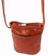 David King & Co. Florentine Top Zip Mini Bag 3512 Blue, Honey, One Size.