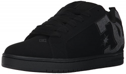 DC Men's Court Graffik SE Skate Shoe,Black Destroy Wash,11 D US.