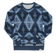 Denim & Supply Ralph Lauren Men's Southwestern-Print French Terry Pullover, (XL)