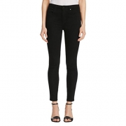 Denim X Alexander Wang Womens High Rise Crop Skinny Jeans Denim 25.