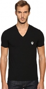 Dolce & Gabbana Men's Deep V-Neck T-Shirt Black T-Shirt.
