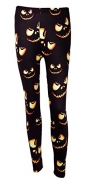 DREAGAL Womens Halloween Seamless Pattern with Pumpkins Leggings Medium.