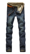 BIG JOE Men's Straight Fit Jeans Pants, With A Beautiful Fashion Designer Back Pocket Embroidery (32Wx30L, Dark Blue,#C20)