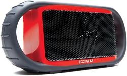 ECOXGEAR ECOXBT Rugged and Waterproof Wireless Bluetooth Speaker (Red)