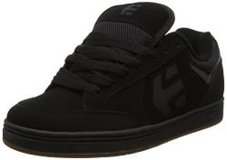etnies Men's Fader Skateboarding Shoe, Black/Heather, 10 M US.