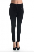 Eunina Women's High Waisted Stretch Skinny Denim Jeans (15, Black).